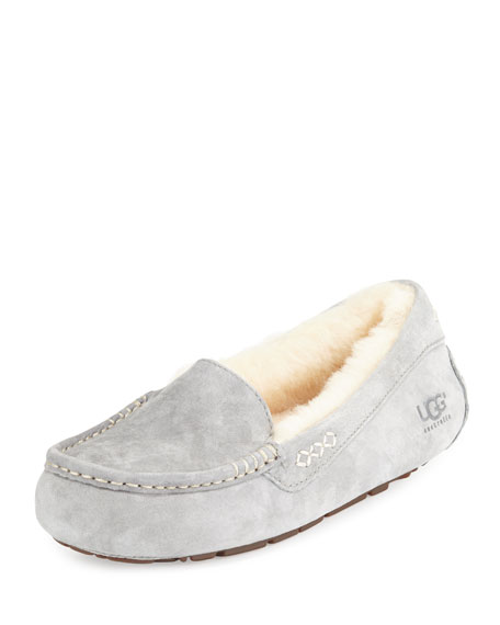 Ugg Grey Moccasin Slippers