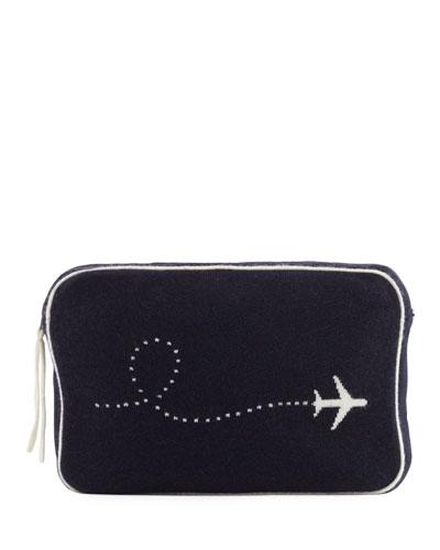 Plane Intarsia Cashmere Travel Set