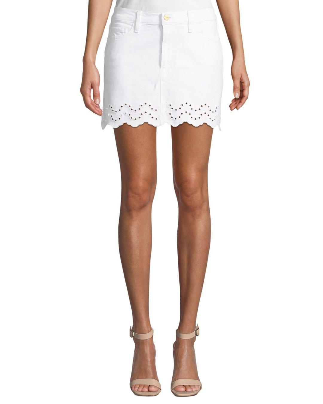 196af0e0afd Neiman Marcus – Schiffly Scalloped Eyelet Mini Skirt –  205.00