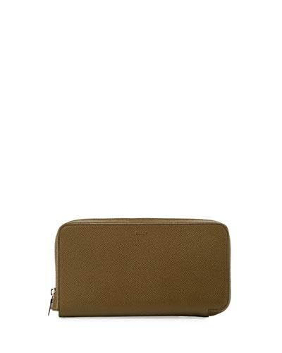 Brigadere Men's Leather Travel Wallet, Green