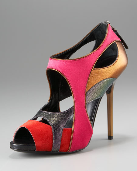 Diego Dolcini Collage Cutout Bootie