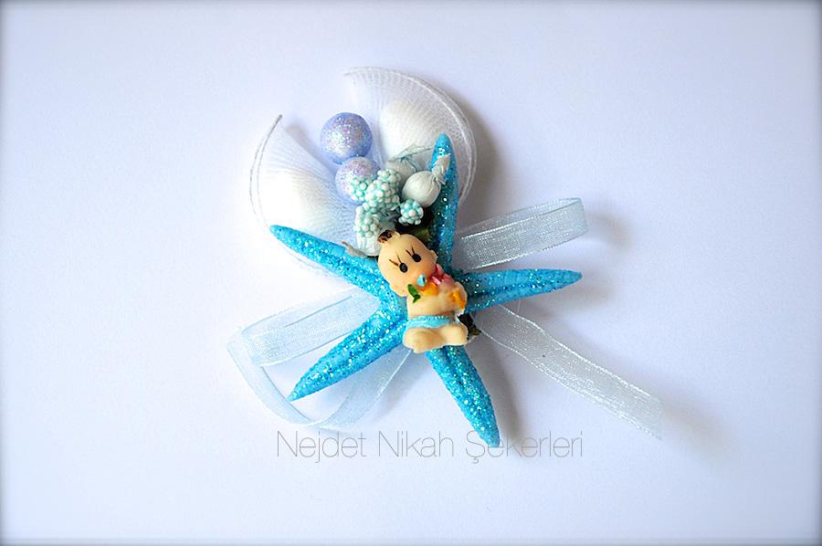 deniz yıldızı bebek şekeri