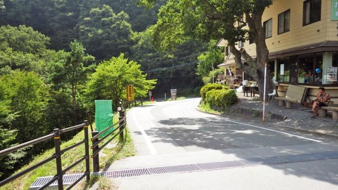 浩庵キャンプ場入口のゲート