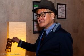 Herr Hayashi vor der Aufführung von Miroku