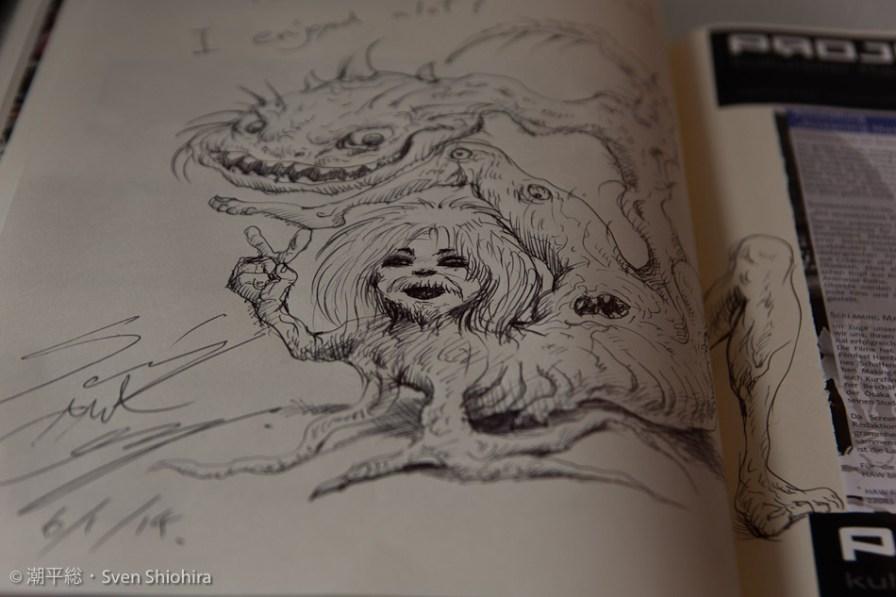 Screaming Mad Georges beeindruckender Eintrag im Projektor-Gästebuch