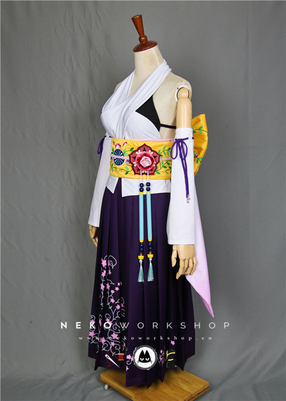 final fantasy x yuna summoner cosplay costume