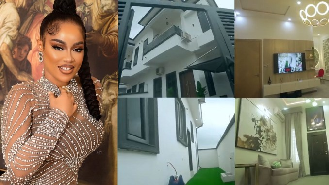 Actress, Onyii Alex buys herself a palatial mansion (Video)