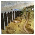 N gauge scale replica of the Ribblehead viaduct