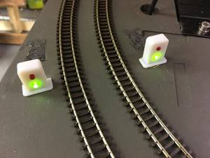 Prototype Nelevator signal lights