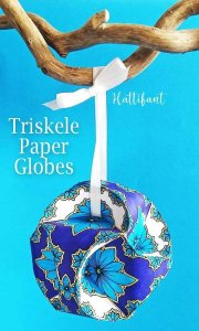 Etsy gifts, Etsy shop, Etsy shops gifts Christmas ornament Christmas ornaments Triskele Paper Globes
