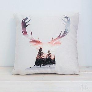 Deer Throw pillow | Etsy shop | Nelidesignboutique | decorative deer cushion
