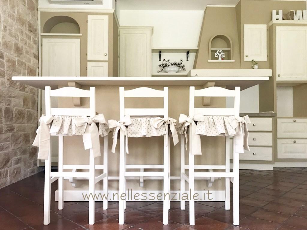 Cuscini per cucina open space in muratura