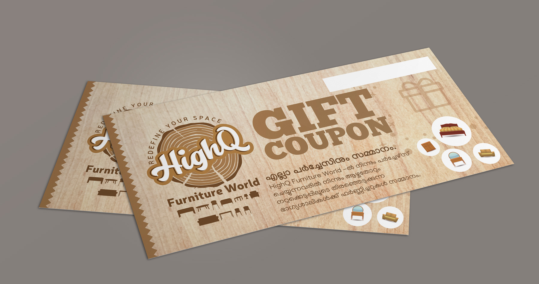 Gift coupon design