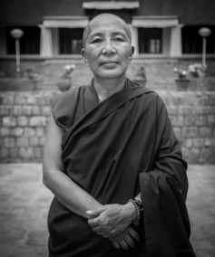 Lobsang Dechen - Head Nun at Dolma Ling Nunnery outside of Dhara