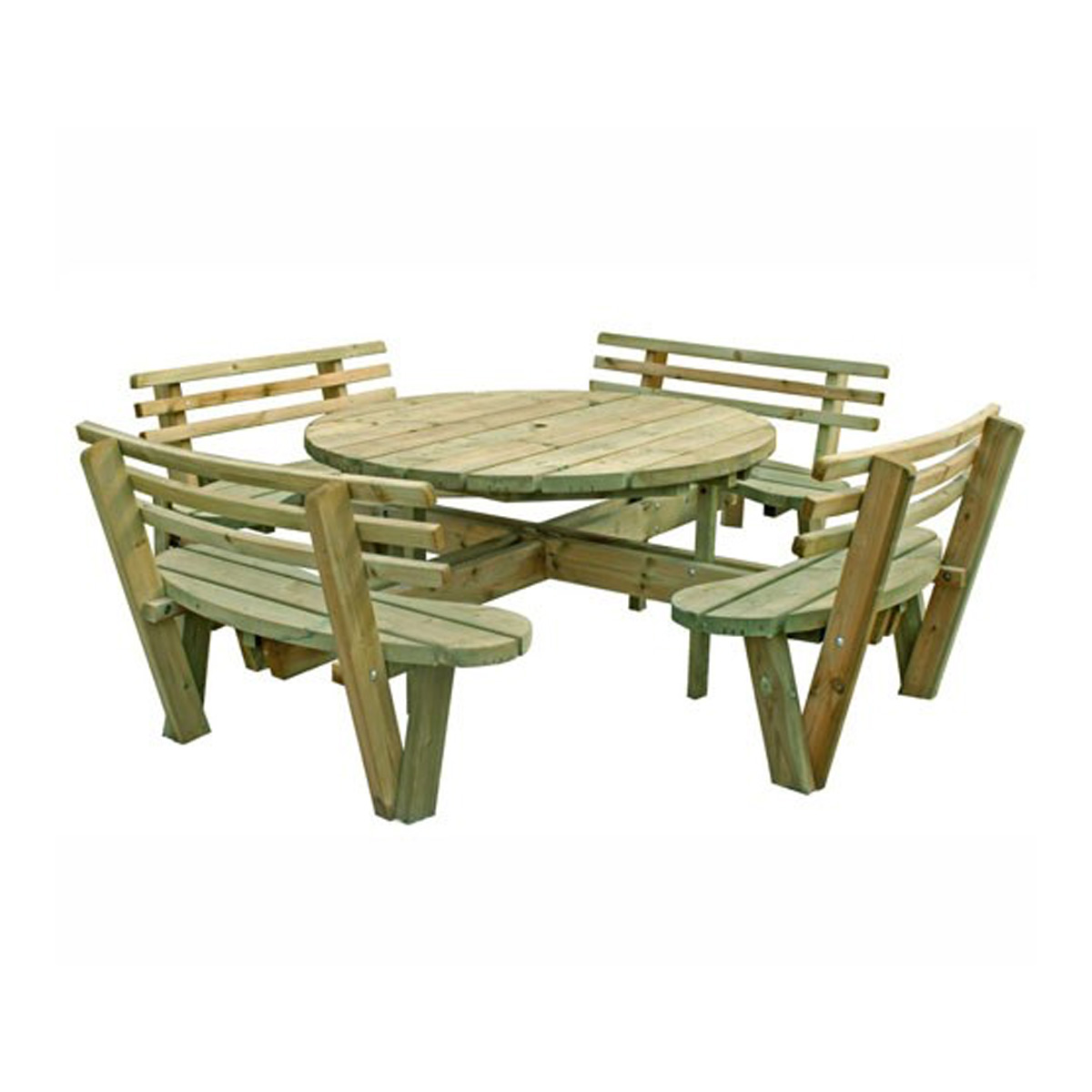 8 seater round table inc backs