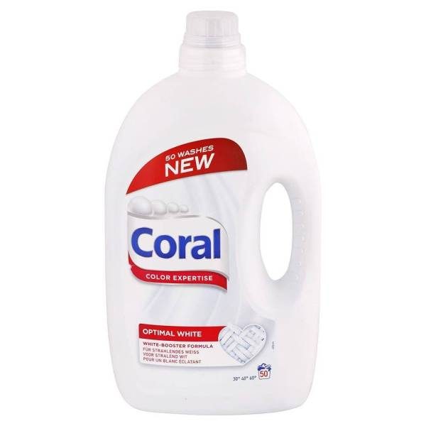 praci gel coral optimal white 50 prani 2,75 L