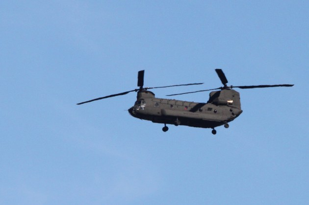 A neat military helicopter that flew over