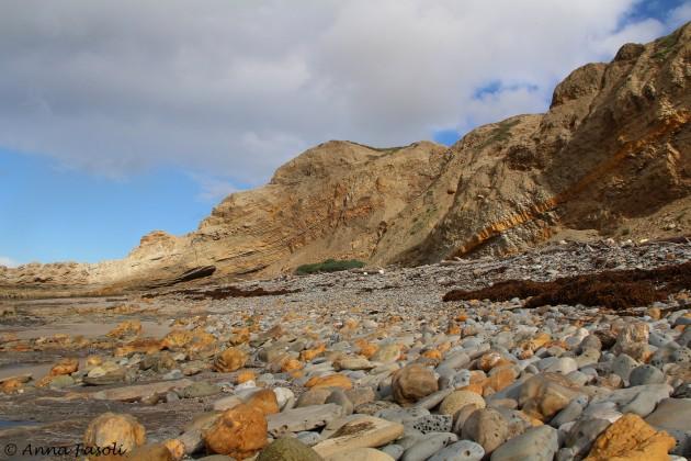 Rocky beach on north shore of Santa Rosa Island