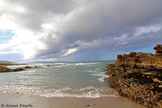 One of many small rain storms to move along the north coast of Santa Rosa Island