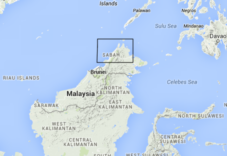 Overview of our location in Borneo