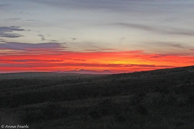 Sunrise over Santa Cruz from Santa Rosa Island