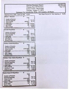 Union County Runoff totals