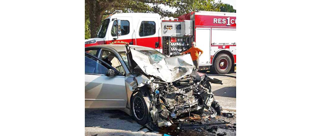 New Albany MS Davis road wreck starts busy weekend