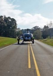 New Albany MS Helicopter landed