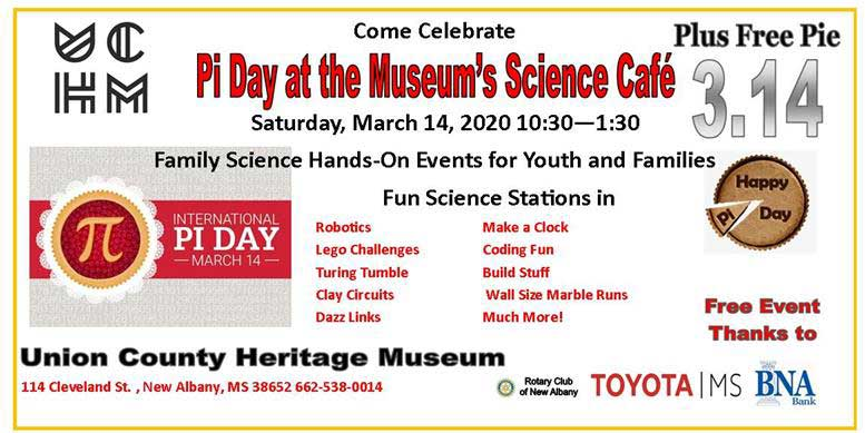 New Albany MS Pi day at Museum