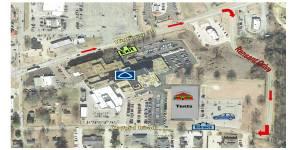 NEMiss.news Aerial Map Baptist back to school fair