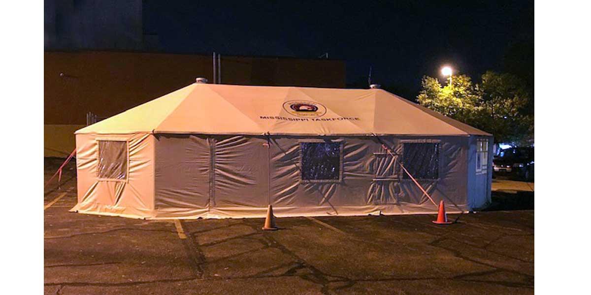 NEMiss.News COVID testing tent, Baptist Union County