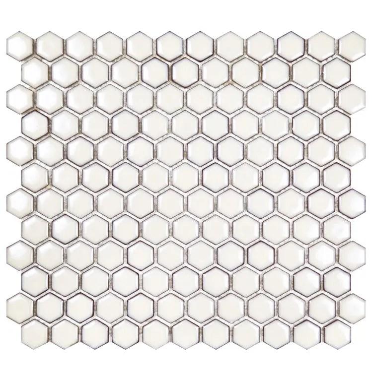 glazed hexagon dandelion mosaic sheet