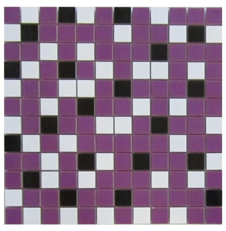 nordic mix purple 1x1 mosaic 12x12