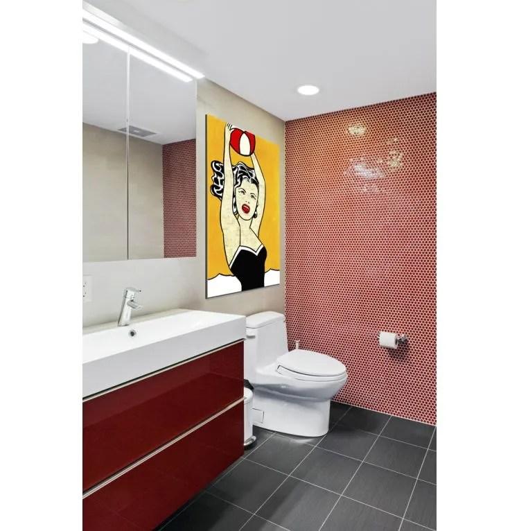 glazed penny round red mosaic sheet