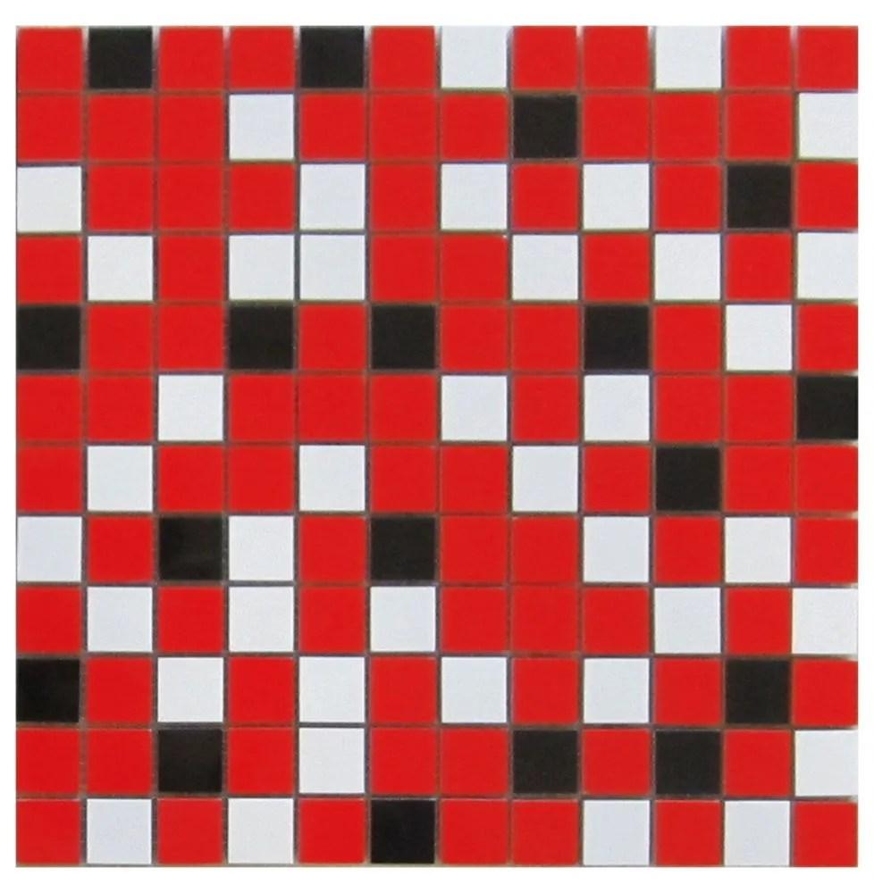 nordic mix red 1x1 mosaic 12x12