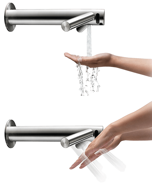 dyson airblade wash dry faucet hand