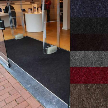 tapis d entree aspect velours