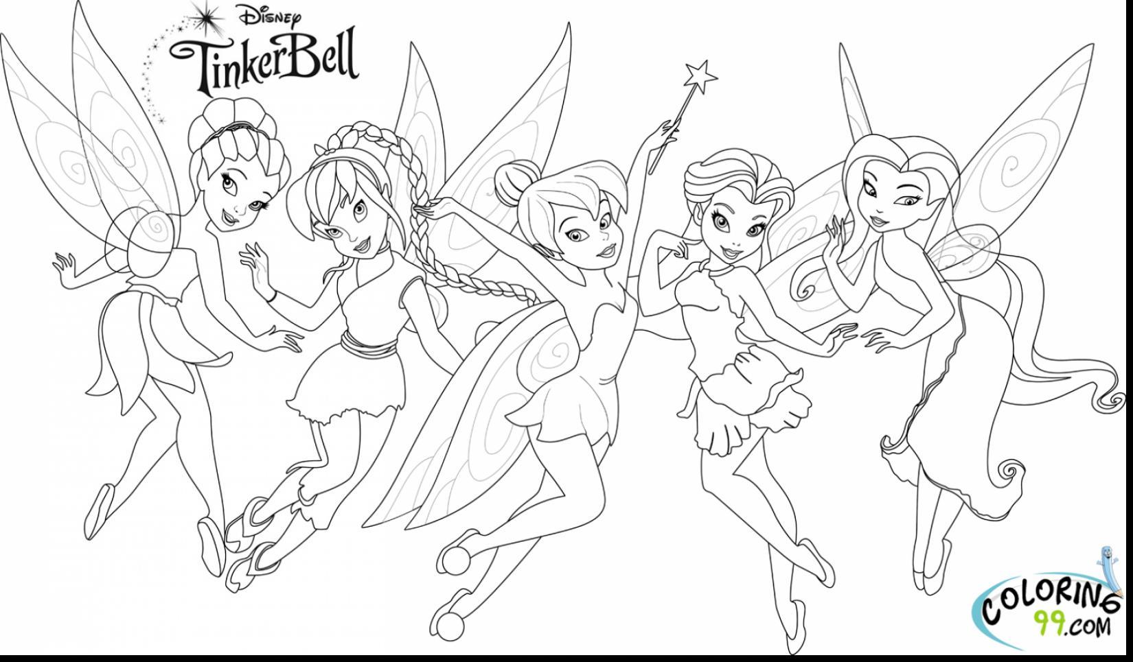 Tinkerbell Coloring Worksheet
