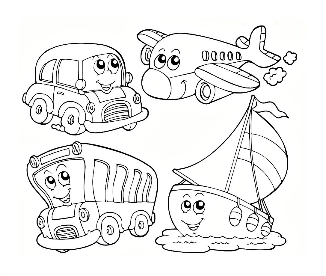 Transportation Coloring Worksheets For Preschool Electric