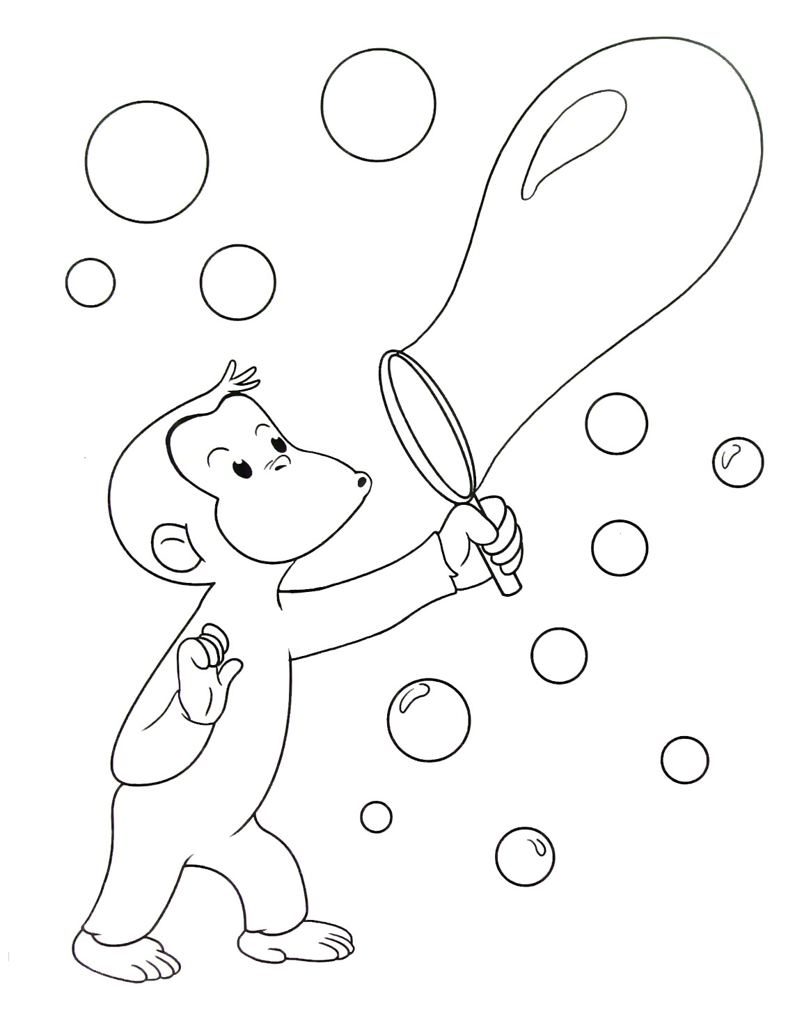 Curious George Coloring Book