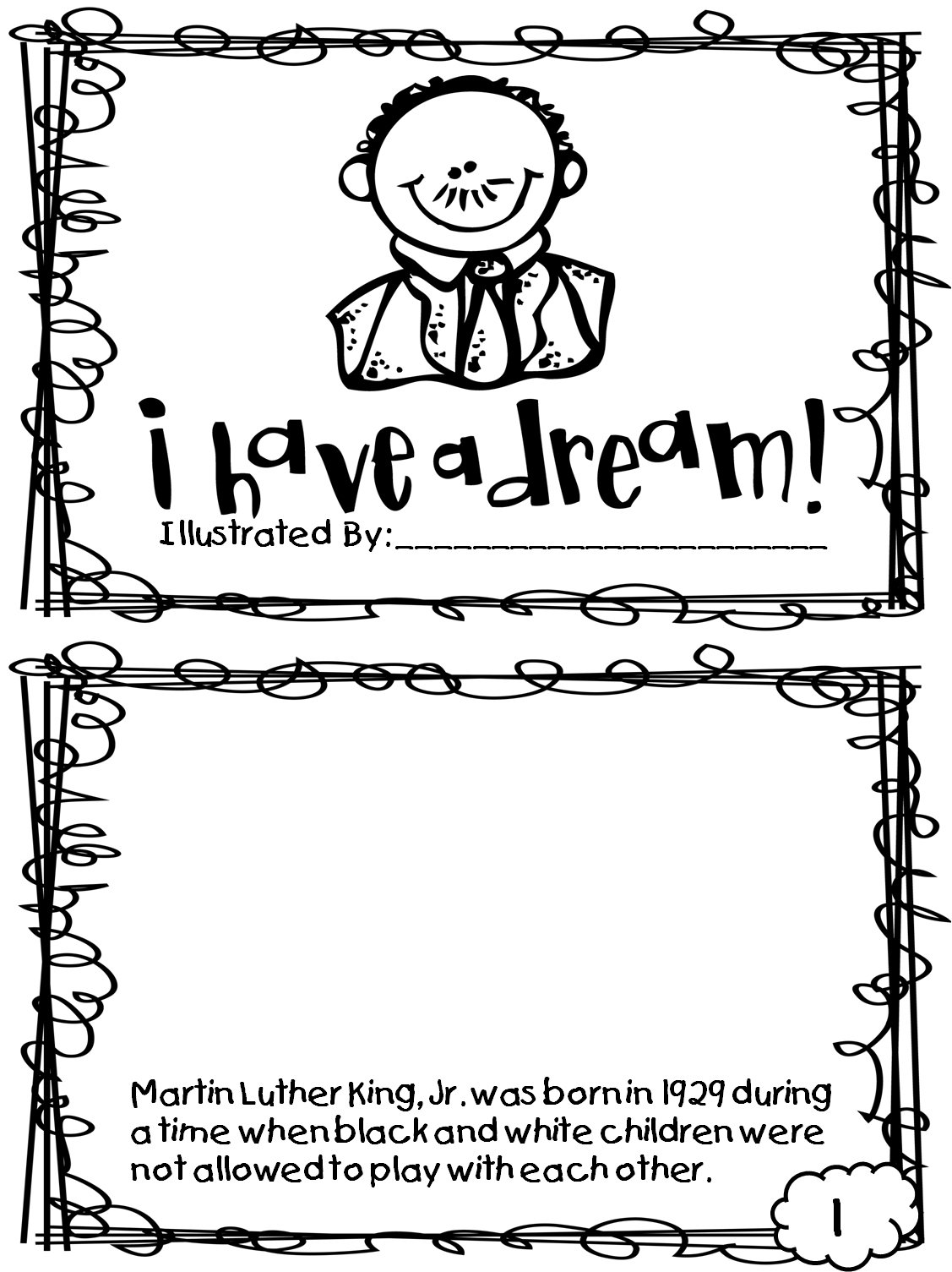 Martin Luther King Jr Coloring Sheets