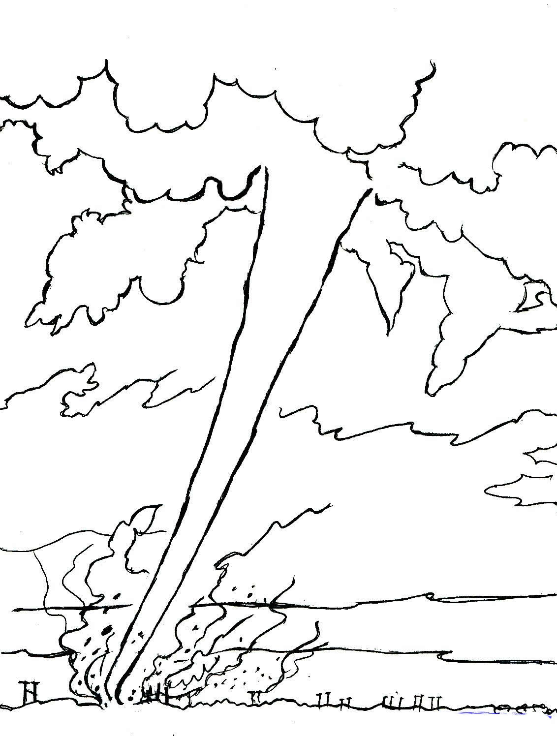 Tornado Coloring Pages