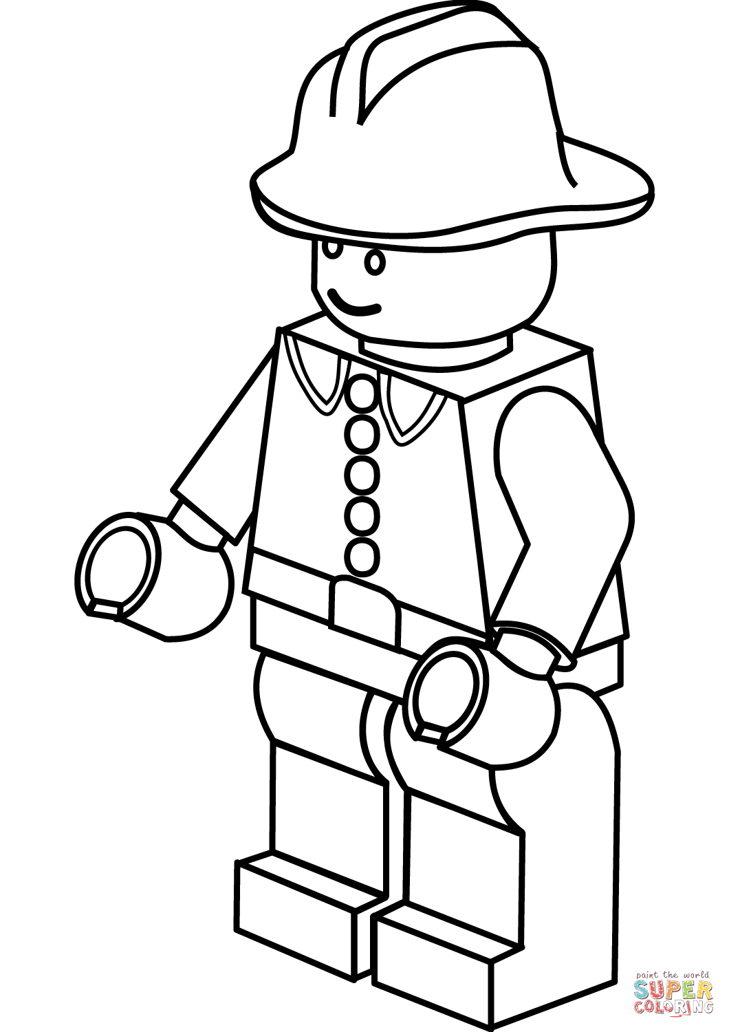 Lego Printable Coloring Pages