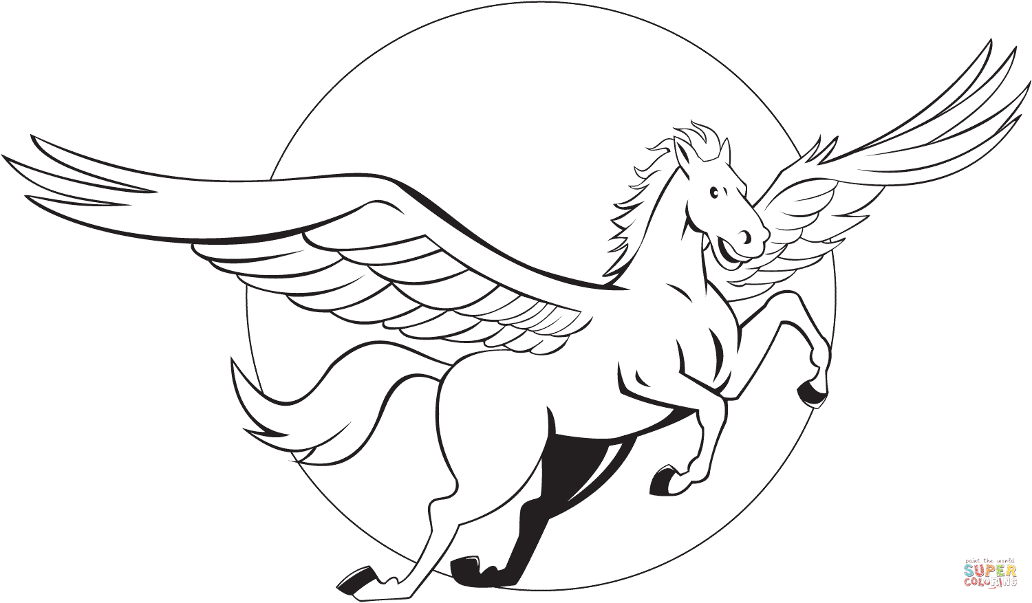 Flying Pegasus Coloring Page Neo Coloring