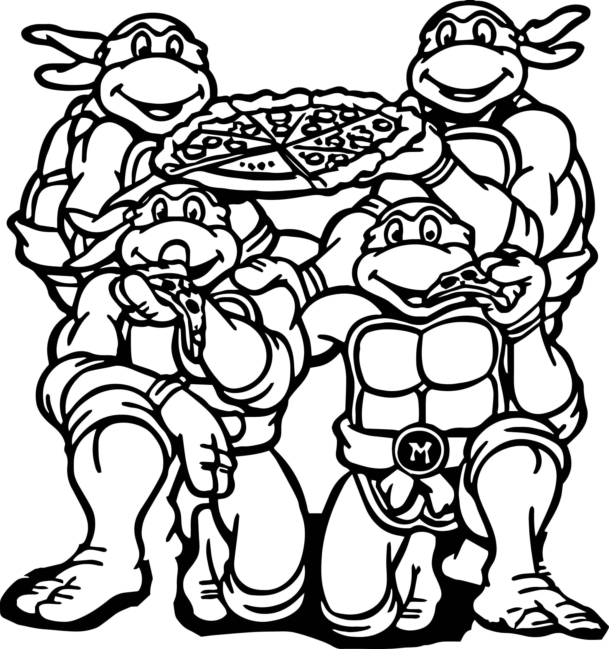 Free Ninja Turtle Coloring Pages