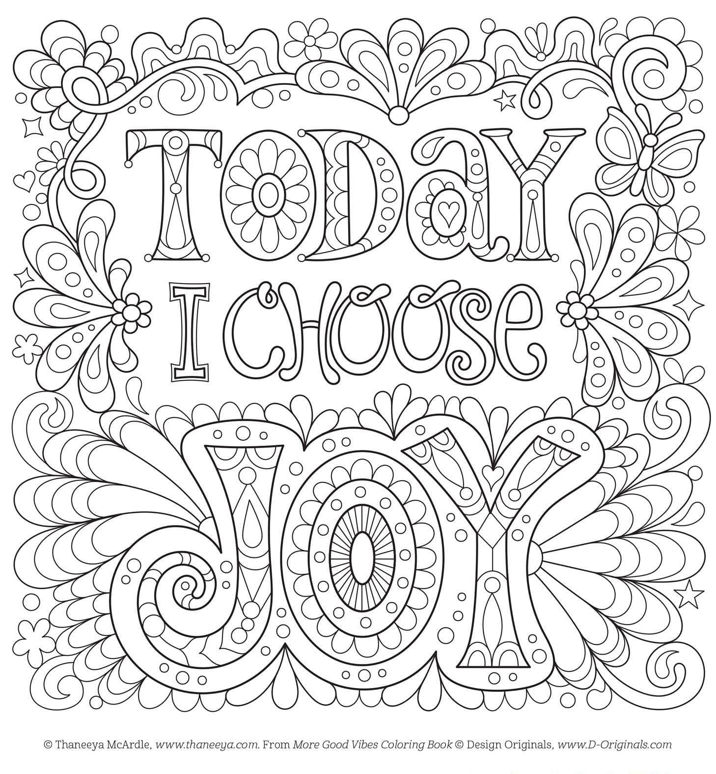 Positive Coloring Pages