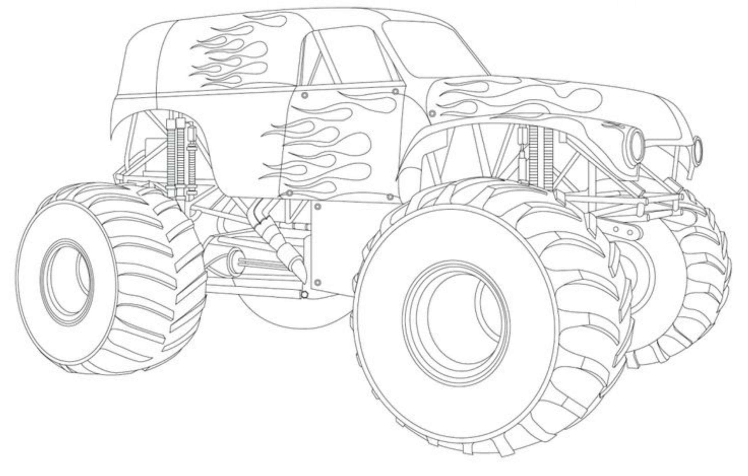 Coloring Pages Monster Trucks