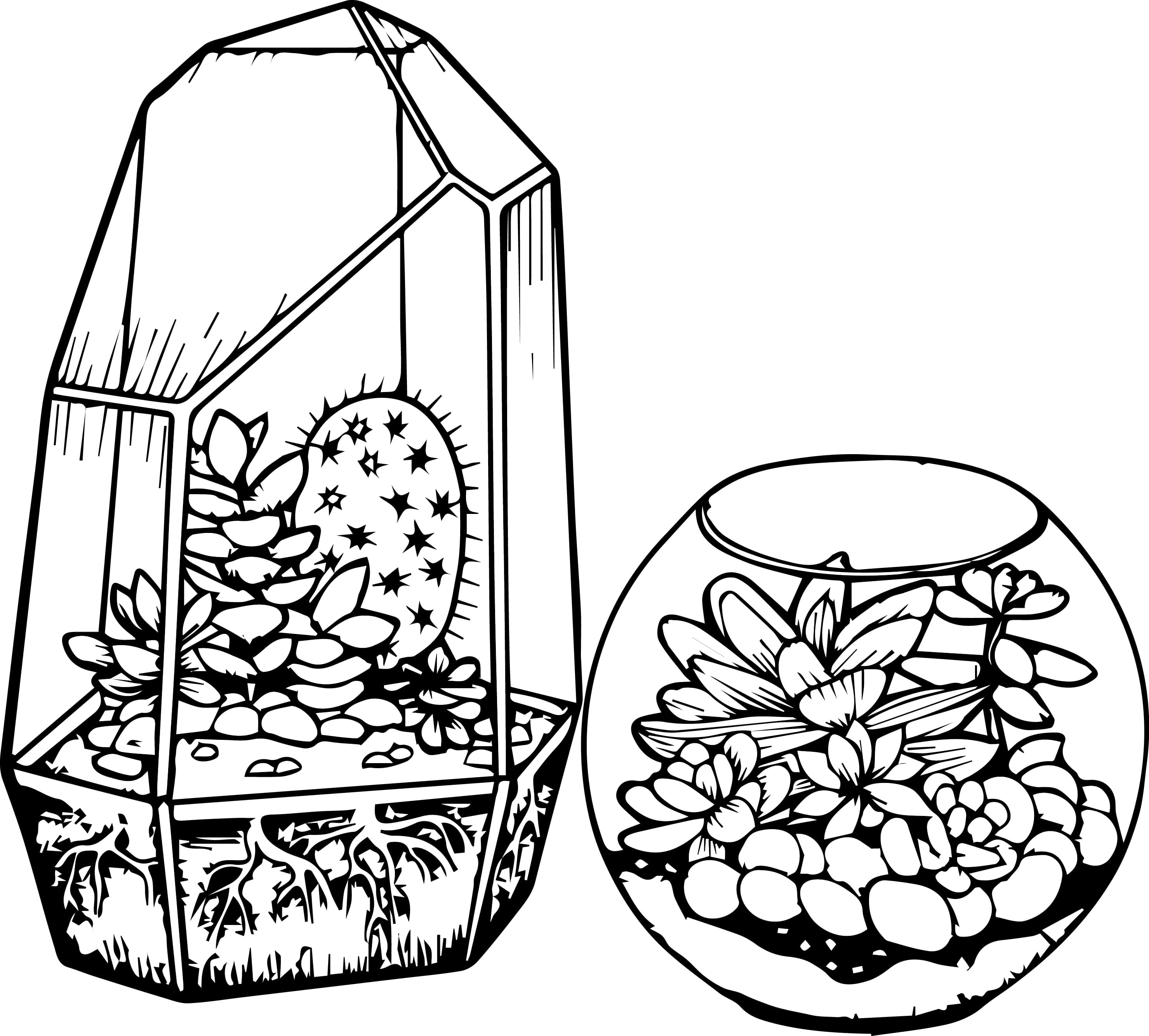 Cactus Coloring Page