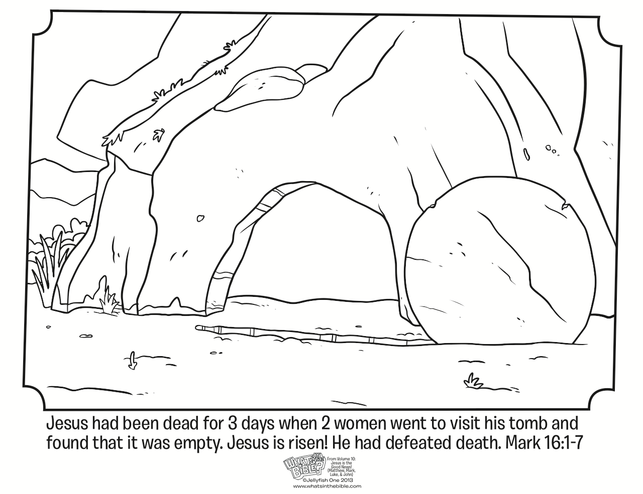 Resurrection Coloring Pages