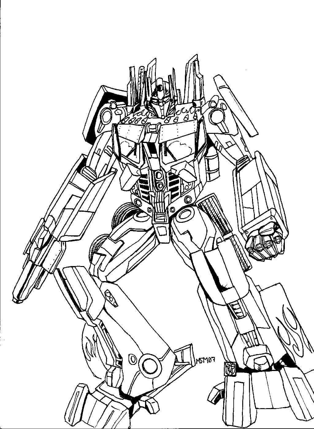 Free Printable Transformers Coloring Pages For Kids Neo